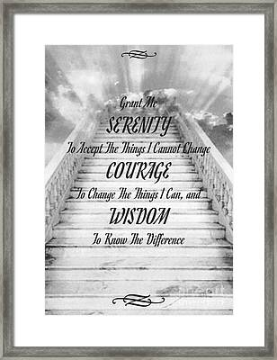 Serenity On The Stairway To Heaven Framed Print by Desiderata Gallery