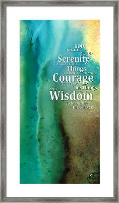 Serenity Prayer 2 - By Sharon Cummings Framed Print