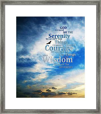 Serenity Prayer 3 - By Sharon Cummings Framed Print