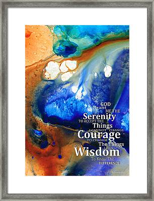 Serenity Prayer 4 - By Sharon Cummings Framed Print