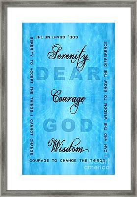 Serenity Prayer Dear God Framed Print