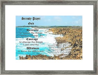 Serenity Prayer For Turbulent Times Framed Print