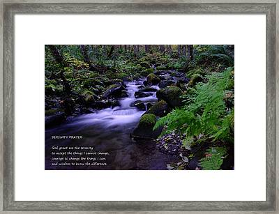Serenity Prayer  Framed Print by Jeff Swan