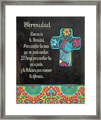 Serenity Prayer Framed Print by Jo Moulton