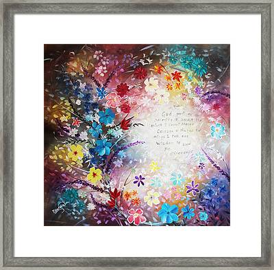 Framed Print featuring the painting Serenity Prayer by Patricia Lintner