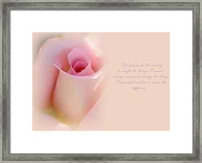 Serenity Prayer Framed Print by The Art Of Marilyn Ridoutt-Greene