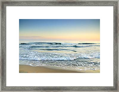 Serenity Sea Vintage Framed Print by Guido Montanes Castillo