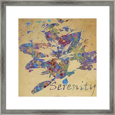 Serenity Framed Print by Soumya Bouchachi