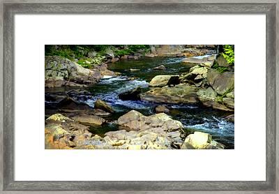 Serenity Stream Framed Print by Karen Wiles