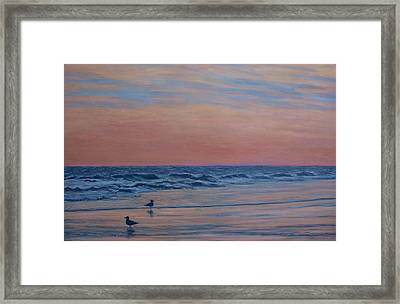 Framed Print featuring the painting Serenity - Study For Dusk At The Shore by Kathleen McDermott