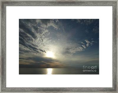 Serenity Sunset Framed Print