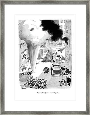 Sergeant, I Hardly Know Where To Begin Framed Print by William O'Brian
