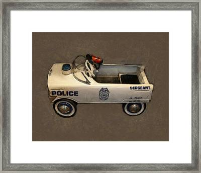 Sergeant Pedal Car Framed Print by Michelle Calkins