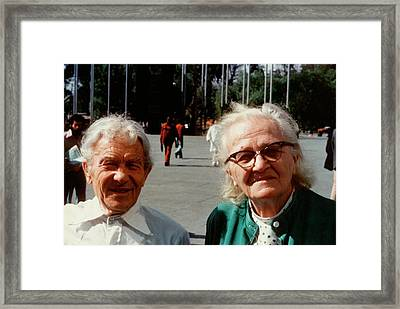 Sergei And Cecilia Gaposchkin Framed Print by Emilio Segre Visual Archives/american Institute Of Physics