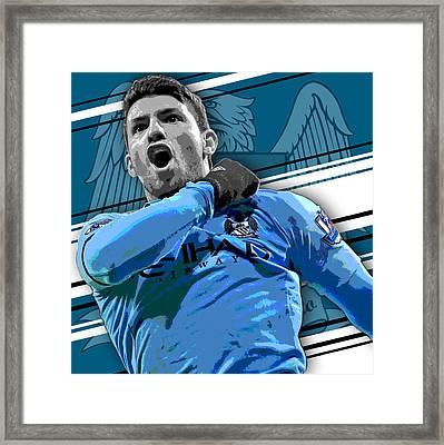 Sergio Aguero Manchester City Print Framed Print
