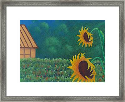 Sergi's Sunflowers Framed Print