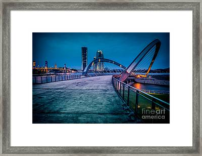 Seri Gemilang Bridge 1 Framed Print by Adrian Evans