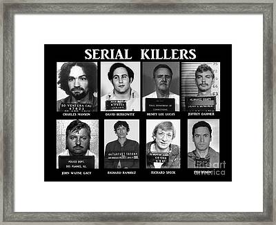 Serial Killers - Public Enemies Framed Print by Paul Ward