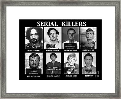 Serial Killers - Public Enemies Framed Print