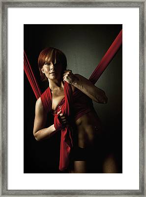 Series In Red Silk Knot Framed Print by Monte Arnold