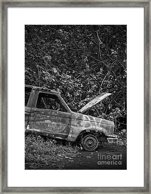 Serious Car Trouble In The Tropics Framed Print by Edward Fielding
