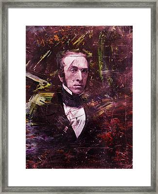 Serious Fellow 1 Framed Print by James W Johnson