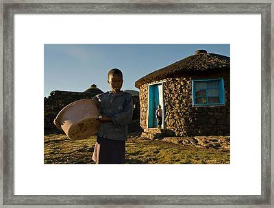 Serious Morning - Landscape Framed Print by Aaron Bedell