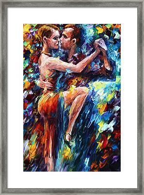 Serious Tango Framed Print by Leonid Afremov