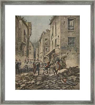 Serious Troubles In Italy Riots Framed Print