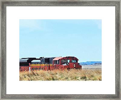 Serious Workhorses Framed Print