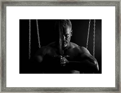 Seriously Framed Print by Monte Arnold