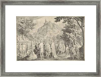 Sermon, Nicolaes De Bruyn Framed Print