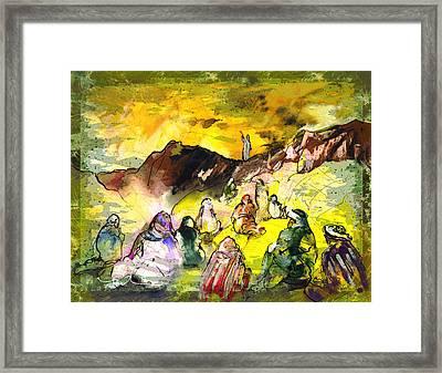 Sermon On Mount Sinai 02 Framed Print by Miki De Goodaboom