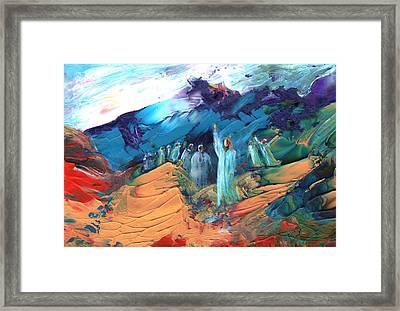 Sermon On The Mount Sinai Framed Print