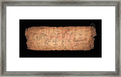 Serpent King Sacrifices Framed Print