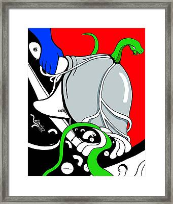Serpent Of Time Framed Print