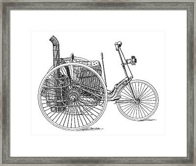 Serpollet Steam Tricycle Framed Print
