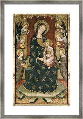 Serra, Pere 1343-1406. Madonna Framed Print by Everett
