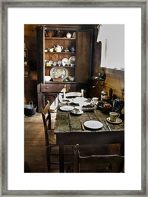 Servant Dining Framed Print by Norman Johnson