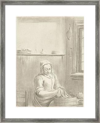 Servant With Tub, Jurriaan Cootwijck Framed Print by Jurriaan Cootwijck