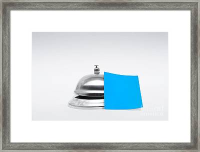 Service Bell With Blank Message Framed Print by Jorgo Photography - Wall Art Gallery
