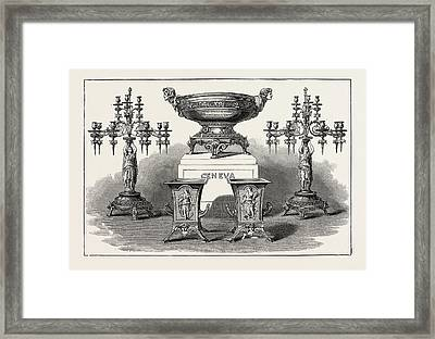 Service Of Plate Presented By The United States Government Framed Print by American School