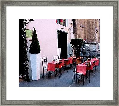 Service Please Framed Print