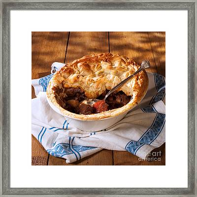 Serving Game Pie Framed Print by Amanda Elwell