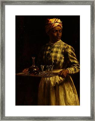 Serving Maid Framed Print by Thomas Waterman Wood