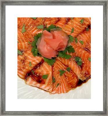 Sesame Salmon Sashimi Framed Print by James Temple