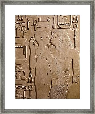 Sesostris I Being Embraced By The God Framed Print by Everett