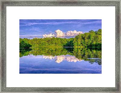 Sesqui Lake Framed Print by Rob Sellers