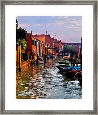 Sestieri Di Dorsoduro Framed Print by Shirley Mangini