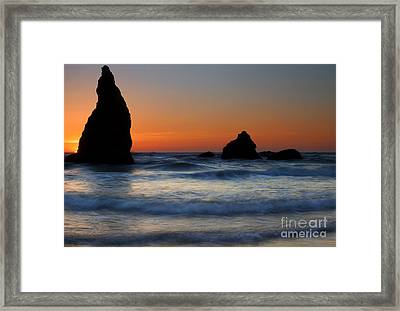 Set Against The Tides Framed Print by Mike  Dawson